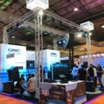 Exhibition Stall Fabricator for QSC Audio Products in PALM Expo at Mumbai
